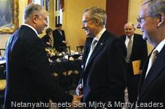 Netanyahu meets Sen Mjrty & Mnrty Leaders