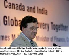 Canadian FinMin Jim Flaherty