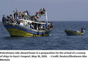 Convoy of ships to Gaza's Seaport