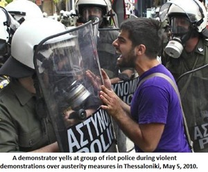 violent demonstrations