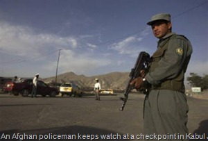 A checkpoint in Kabul