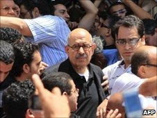 ElBaradei leading protest
