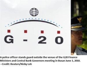 G20 meeting in Busan June 3, 2010.