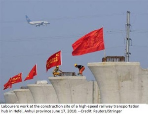 High speed railway work