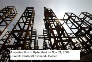 A construction in Hyd'bad
