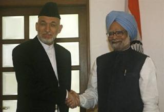 Karzai with Manmohan