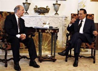 Mubarak and George Mitchell