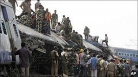 Sabotaged train