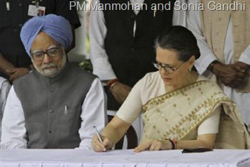 PM Manmohan and Sonia Gandhi