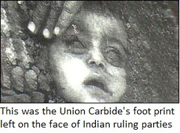 Union Carbide's foot print on India