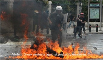 Violent Greek protests