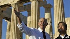 Wen Jiabao with George Papandreou