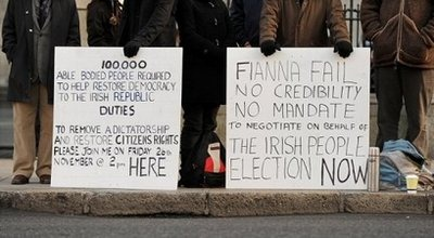 Irish protests