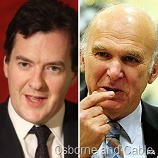 Osborne and Vince Cable