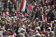 Yemeni demonstrators